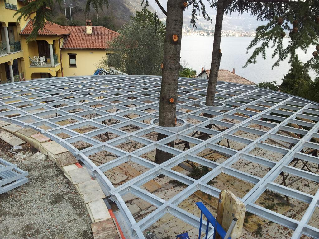 Parco S. Marco Cima di Porlezza Lugano terrazza piscina