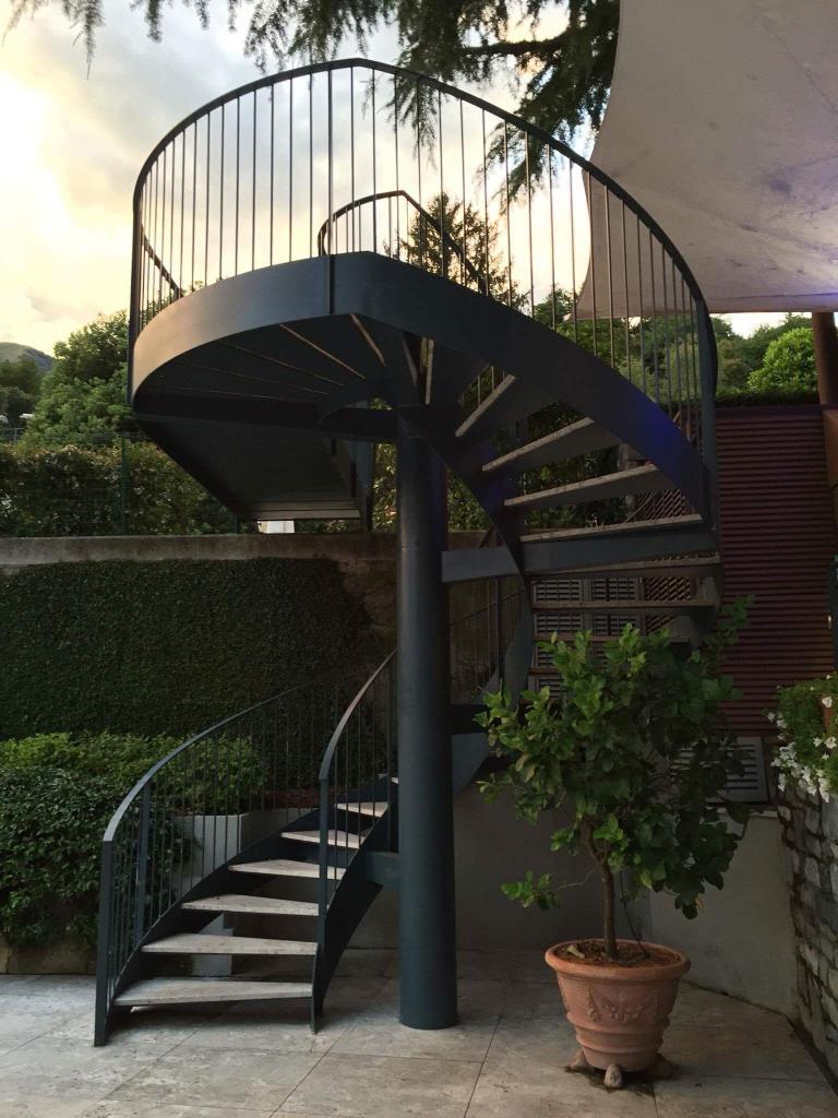 Scala elicoidale giardino Grand Hotel Tremezzo